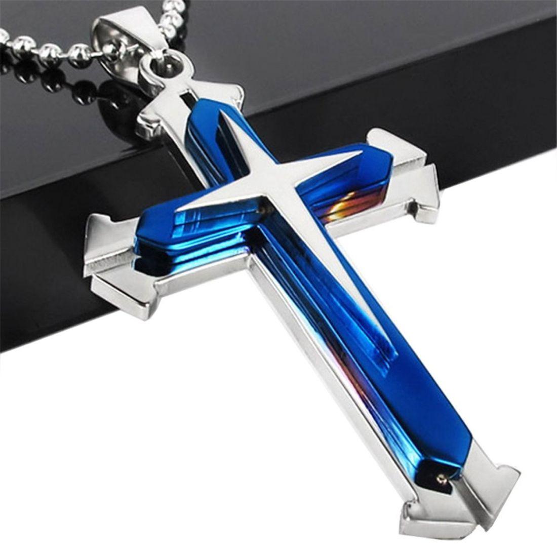 Стальной нательный крест