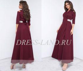 Бордовое платье на запах