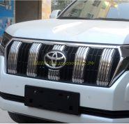 Хромированные накладки на решетку радиатора для Toyota Land Cruiser Prado 150 2017 -