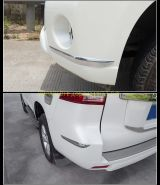 Хромированные накладки на передний и задний бампер для Toyota Land Cruiser Prado 150 2013 -