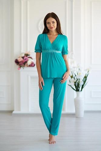 Пижама женская арт.0030 аквамарин, вискоза