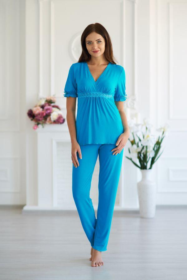 Пижама женская 030 цвет бирюза