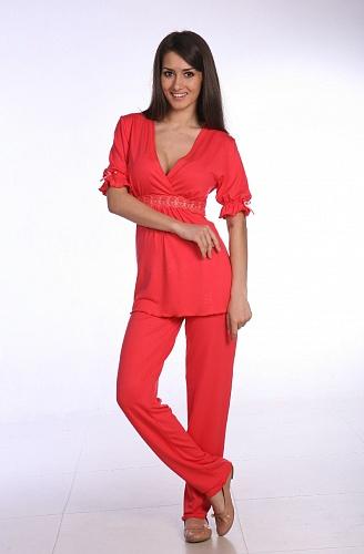 Пижама женская арт.0030 коралл, вискоза