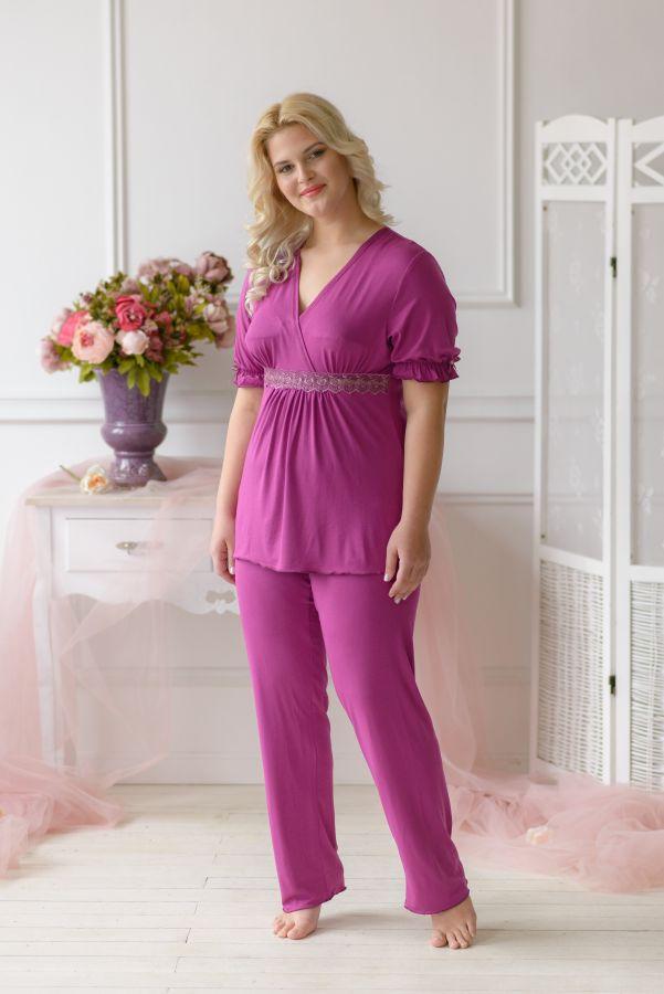 Пижама женская 030 цвет слива