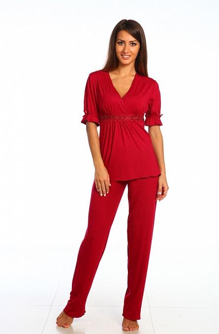 Пижама женская арт.0030 бордо, вискоза