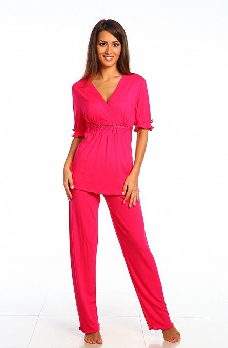 Пижама женская 030 цвет малина