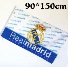 Флаг большой Реал Мадрид 90х150 см