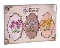 Подарочный набор вафельных полотенец (3шт) №0-31