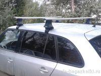 Багажник на крышу Skoda Fabia MK2 универсал, Атлант, аэродинамические дуги