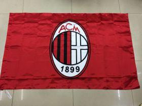 Флаг футбольный Милан 90х150 см