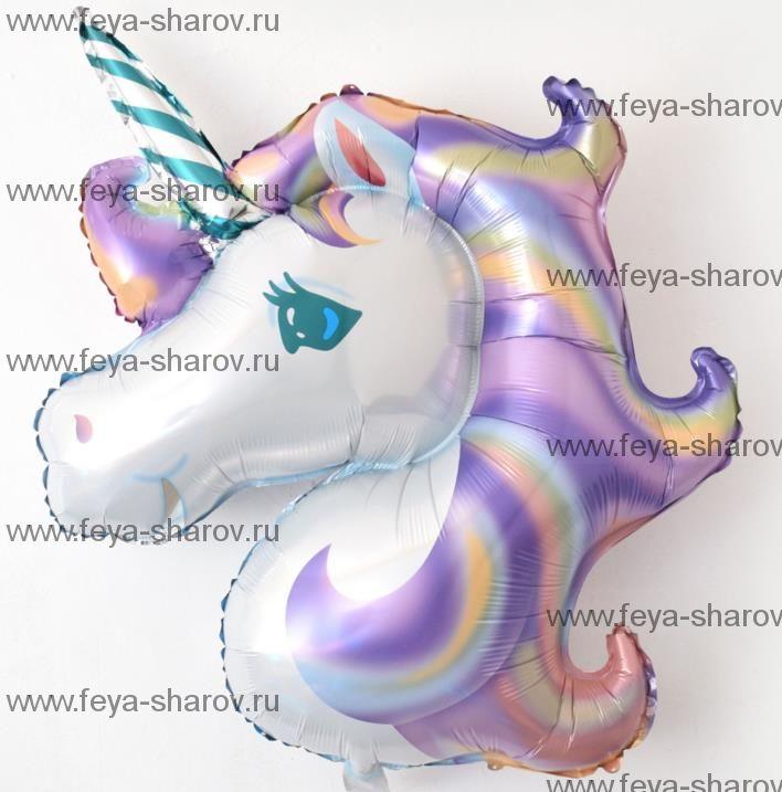 Шар Единорог Фиолетовый 112 см