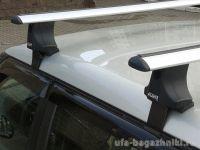 Багажник на крышу Skoda Fabia MK2 универсал, Атлант, крыловидные аэродуги