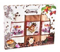 """Подарочный набор вафельных полотенец """" COFFE"""" (3шт) №0-970"""