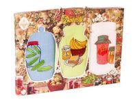 """Подарочный набор вафельных полотенец """" KITCHEN"""" (3шт) №0-971"""
