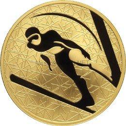 200 рублей 2009 год Прыжки с трамплина