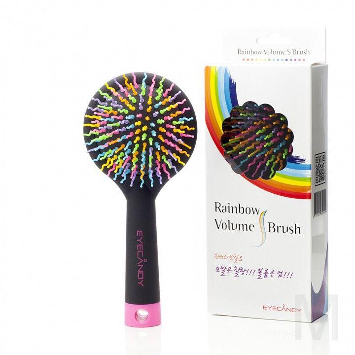 Массажная расческа для придания объема EYECANDY Rainbow Volume S Brush