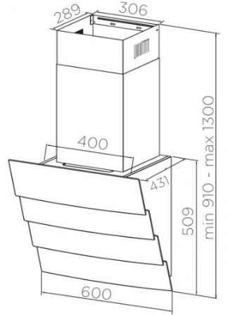 Вытяжка Midea Mh 60An 780Gi Retail