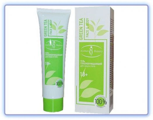 Пилинг для лица и тела Зеленый чай ТМ Alchun Beauty