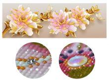 Цветы с позолотой