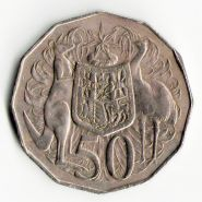 Австралия 50 центов 1981 ФАУНА КЕНГУРУ СТРАУС