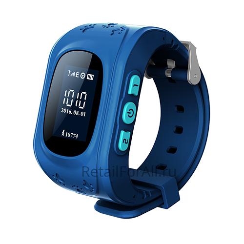Умные детские часы с GPS Smart Baby Watch Q50 (синий)