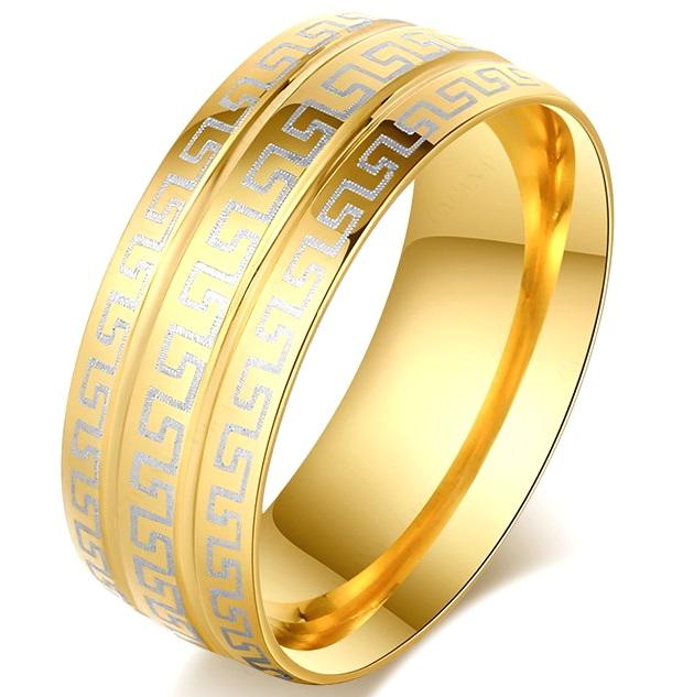 Широкое кольцо с орнаментом Версаче