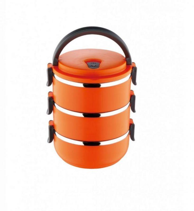 Ланч-Бокс Из Нержавеющей Стали, 2.1 Л, Оранжевый