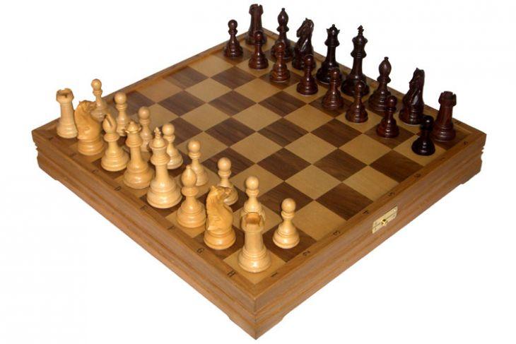"""Шахматы классические большие деревянные утяжеленные (высота короля 4,00"""")"""
