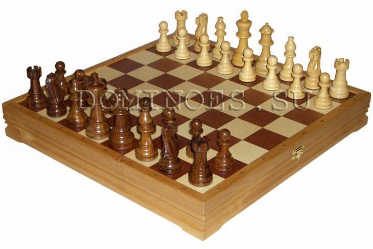 """Шахматы классические большие деревянные утяжеленные (высота короля 4,25"""")"""