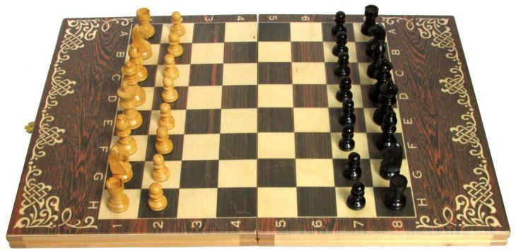 """Шахматы классические малые деревянные (высота короля 2,50"""")"""