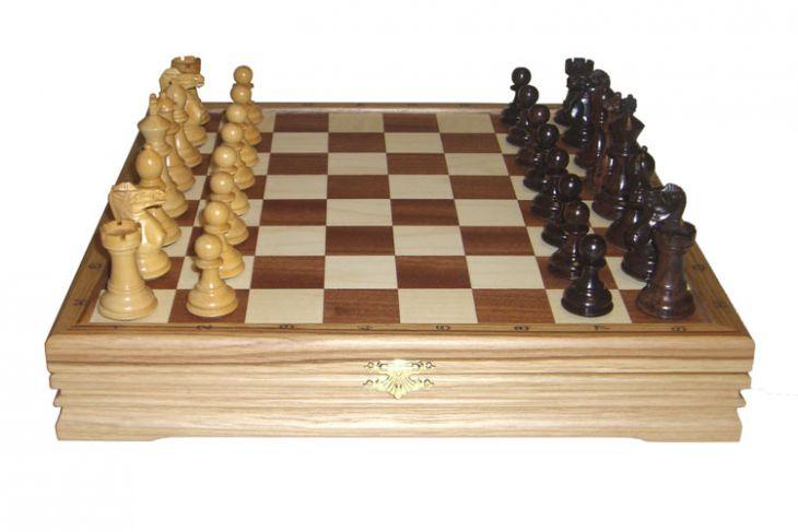 """Шахматы классические малые деревянные (высота короля 2,75"""")"""