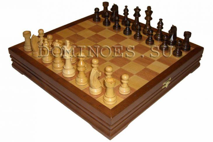 """Шахматы классические малые деревянные (высота короля 3,25"""")"""