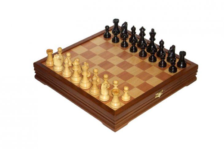 """Шахматы классические средние деревянные утяжеленные (высота короля 3,25"""")"""