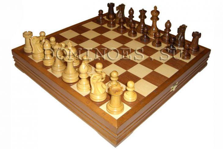 """Шахматы классические стандартные деревянные утяжеленные (высота короля 4,00"""")"""