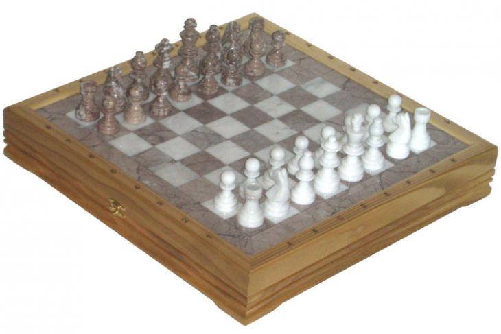 """Шахматы каменные Американские (высота короля 3,50"""")"""