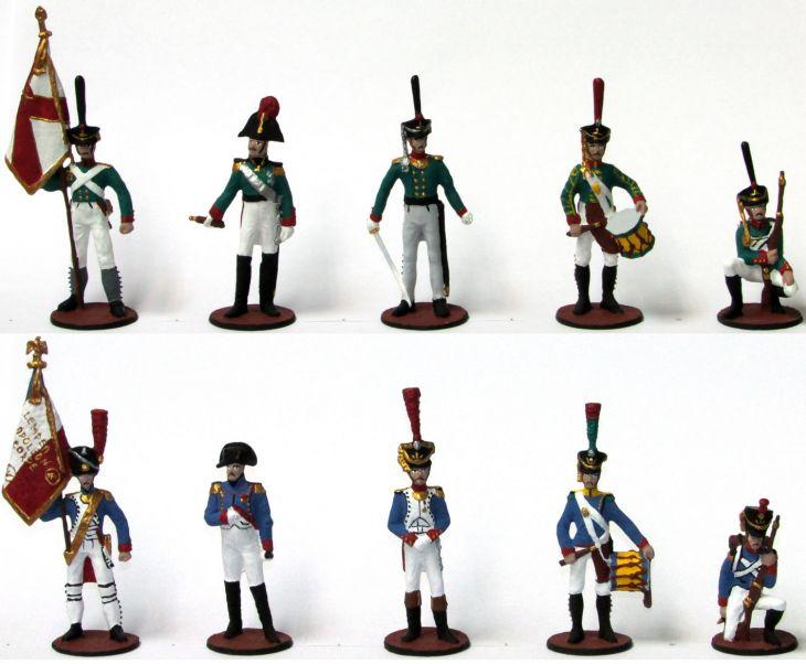 """Набор миниатюр в деревянной шкатулке """"Бородинское сражение"""" (10 фигур)"""