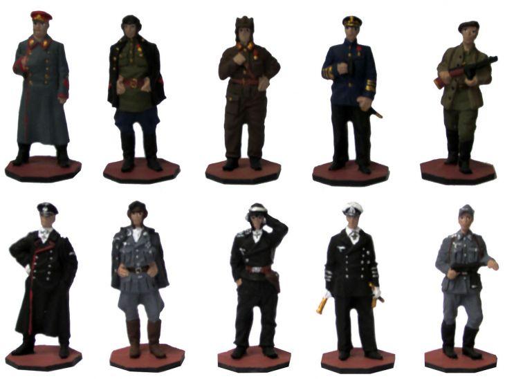 """Набор миниатюр в деревянной шкатулке """"Великая Отечественная война"""" (10 фигур)"""