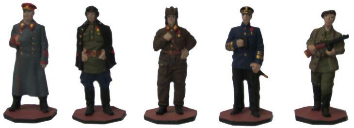 """Набор миниатюр в деревянной шкатулке """"Советские войска - Великая Отечественная война"""" (5 фигур)"""