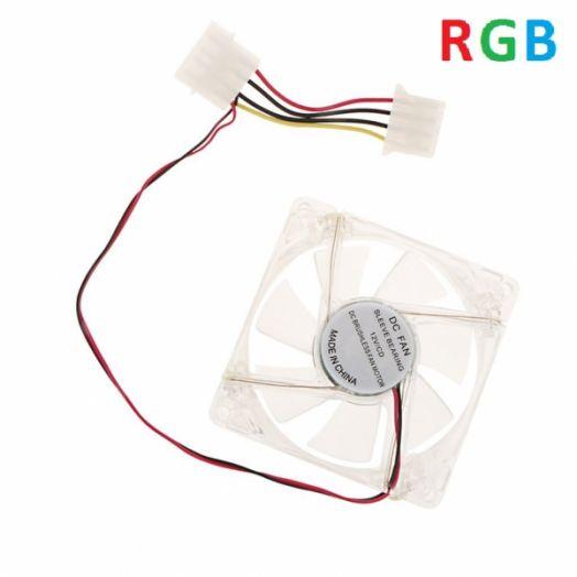 Вентилятор LED RGB 80х80х25 12V