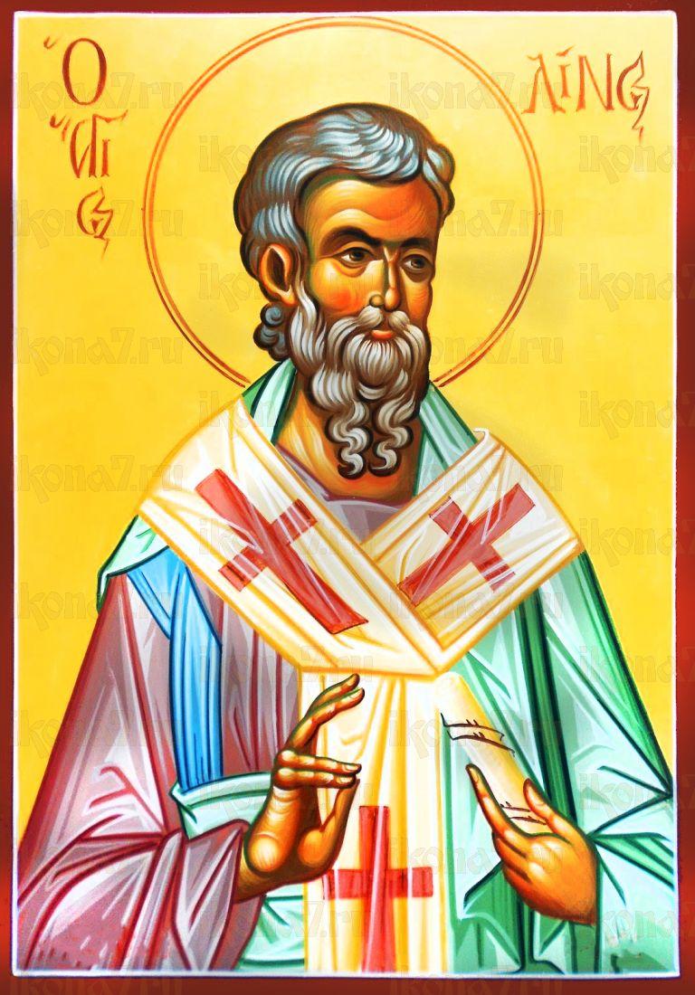 Лин Римский (рукописная икона)