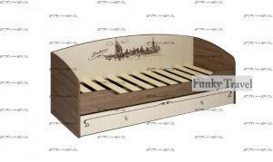 Кровать с выдвижным ящиком Фанки Тревел ФТР-01 (80х200)