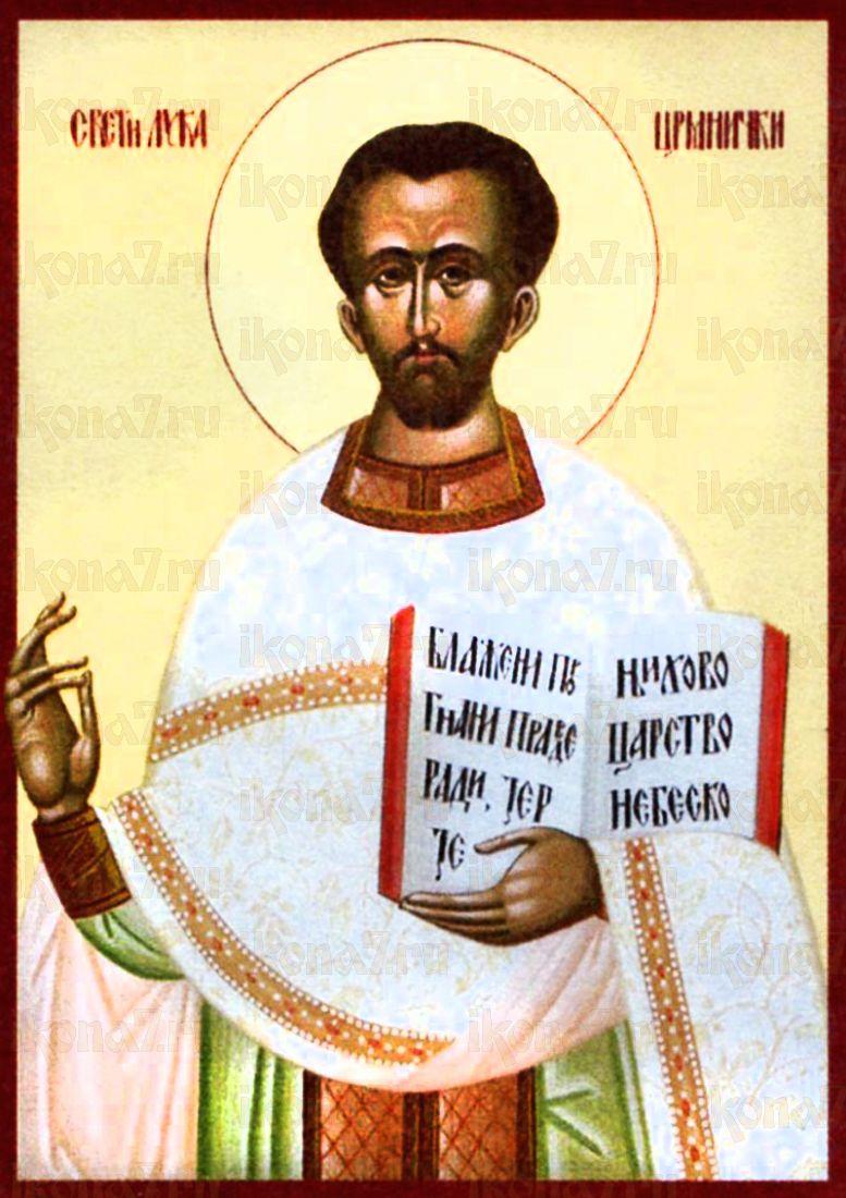 Лука Црмницкий (рукописная икона)