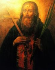 Лукиан Печерский (рукописная икона)