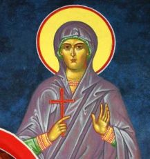 Лукия Римская (рукописная икона)