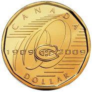 1 доллар 2009 Канада. 100 лет хк Монреаль Канадиенс