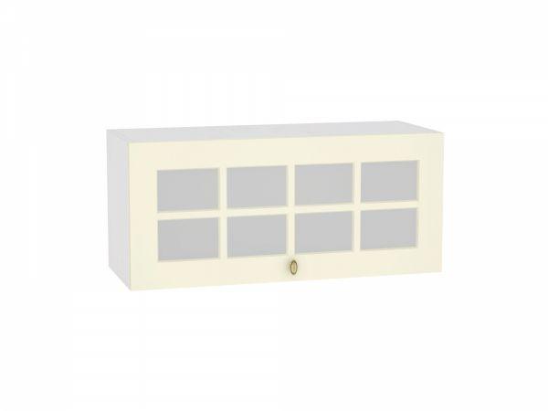 Шкаф верхний Прованс ВГ800 со стеклом (ваниль)