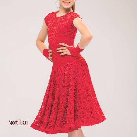 Рейтинговое платье с митенками