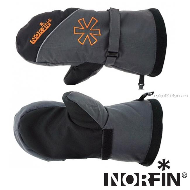 Купить Варежки Norfin Discovery цвет: серый/черный (Артикул: 703075)
