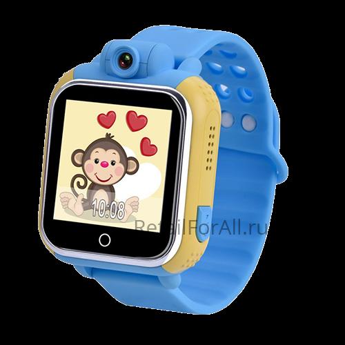 Умные детские часы с GPS GW1000 (G75) (голубой)
