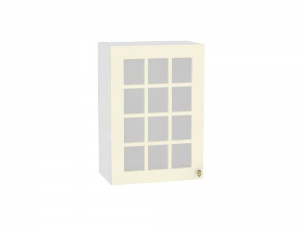 Шкаф верхний со стеклом Прованс В500 ваниль